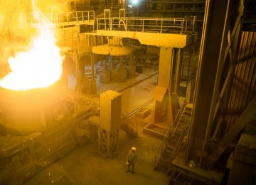 Iran's Steel Output Grows 10.8% YOY to Over 16m Tons