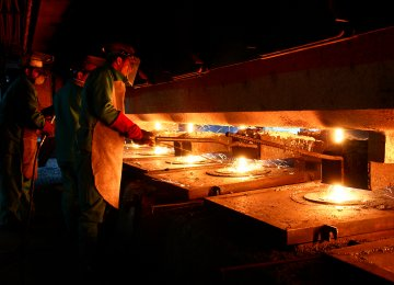 Iran's Steel Production Rises 8.7% to Over 39m Tons