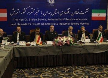 Austrian Envoy in Hamedan Gauges Economic Cooperation Potential