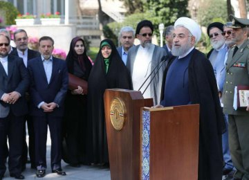 President Hassan Rouhani on Sunday spoke to reporters after the last Cabinet meeting of the current year.