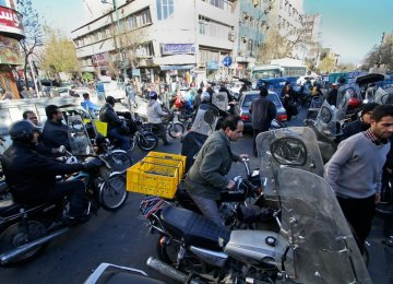Some 2.5 million carburetor-equipped motorcycles ply Tehran's almost permanently clogged roads.
