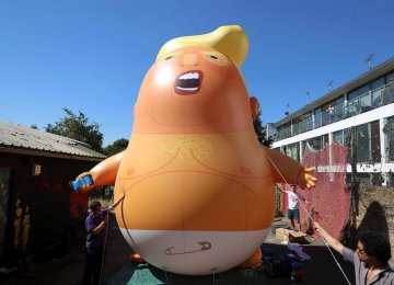 Brits Have a Message in Trump Baby Balloon