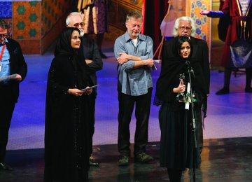 Mahoor Alvand wins the Best Actress award for her performance in 'Hattrick'.