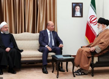 Leader Backs Stronger Tehran-Baghdad Bonds