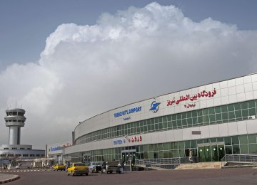 Tabriz International Airport currently operates 50 regular domestic  and foreign flights.