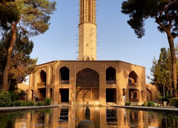 Yazd UNESCO Garden's   Renovation Nears Completion
