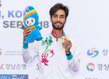 Nekounam Takes First Gold