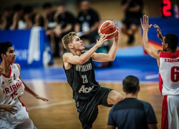 New Zealand No. 23 Tom Cowie scored 17 points against Iran.