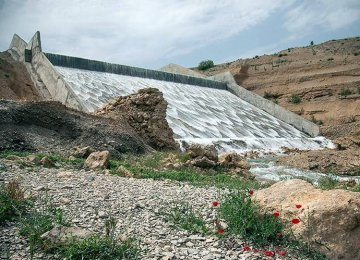 Deluge of Water Bursts Out of Dam in Iran's Kermanshah