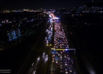 Tehran-Karaj Highway during rush hours