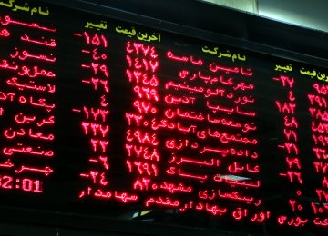 Tehran Stocks Slightly Higher