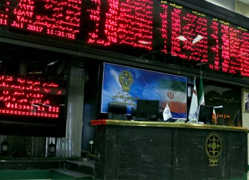 Tehran Stock Exchange Sheds 1,400 Points