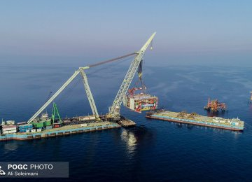 1st Platform of Iran's South Pars Phase 22 Installed