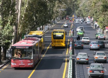 Traffic Scheme Revenues Spent on Tehran's Transportation Development
