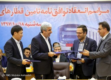 Chinese Co. Signs Contract for 367 Tehran Subway Cars