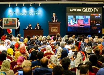 Tehran Auction Revenues Up 23%