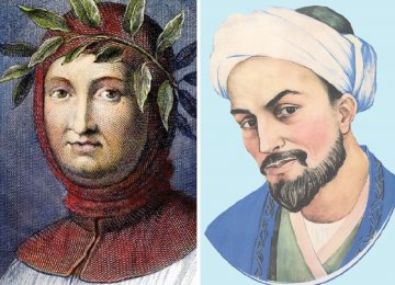 Portaits of Petrarch (L) and Sa'di
