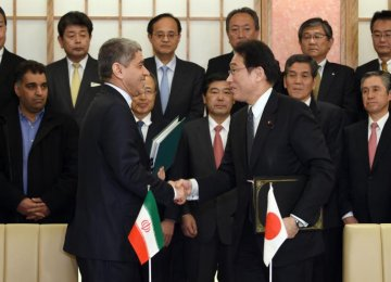 Iran, Japan Sign Investment Pact