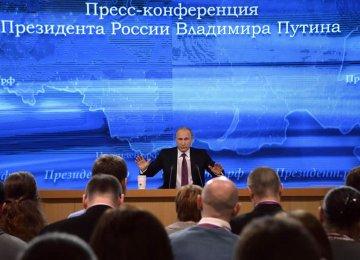 Putin Tries to Allay Russians' Concerns