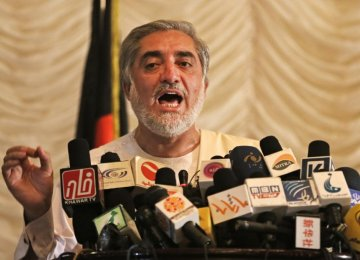 Afghanistan's Abdullah Rejects Election Outcome