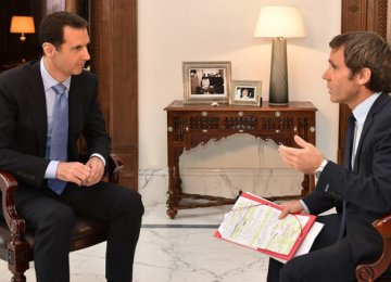 Assad Says France Supporting Terrorists in Syria