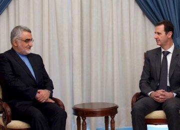MP Meets Assad, Defends War on Terror