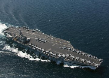 Navy Drone Flies Over US Warship