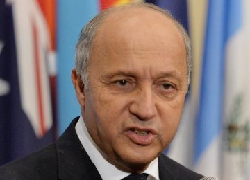 Fabius Sets Condition for Deal