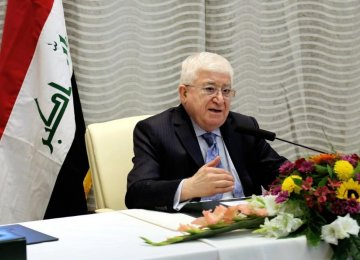 Masum: Iran's Presence in Iraq Timely, Positive