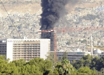 Mortar Hits Minister's Damascus Hotel