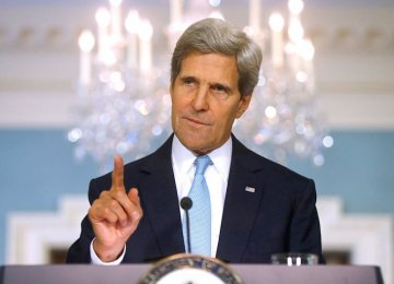 Kerry Hopes for Iran Coop. on Regional Issues