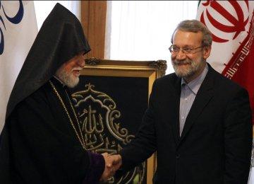 Speaker Meets Senior Armenian Cleric