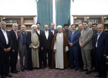 Rafsanjani Hails Negotiating Diplomats' Deftness