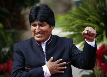 Morales' Victory Congratulated