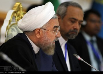 Rouhani: SCO Should Act to Counter Western Sanctions