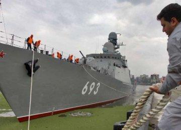 Russian Warships Dock at Anzali Port