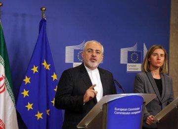 Tehran, EU Proud of Nuclear Deal