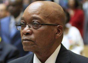 S. Africa's Zuma to Visit