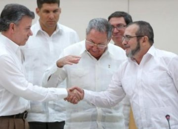 No Extension of Talks With Colombia Rebel Group