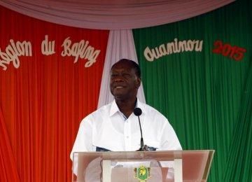 Ivory Coast's Ouattara Reelected