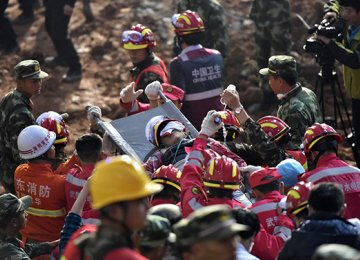 Man Found Alive in China Landslide