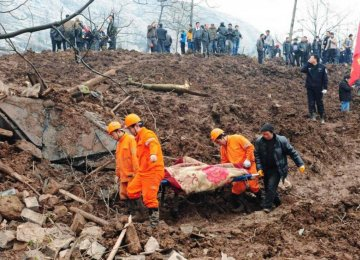 China Landslide Claims 25 Lives