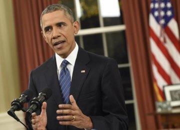 Obama Vows to Overcome Terror Threat