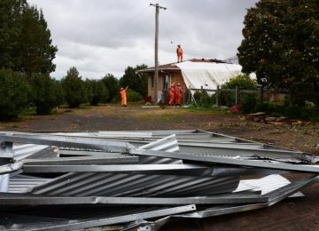 Tornado Rips Roofs Off Homes in Sydney