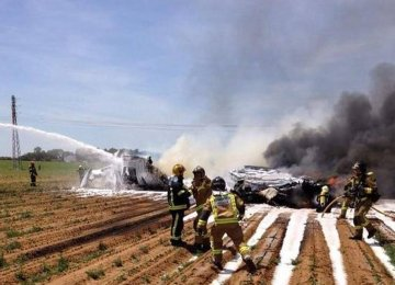 Airbus Military Plane Crashes in Spain