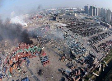 China Blast Zone Evacuated