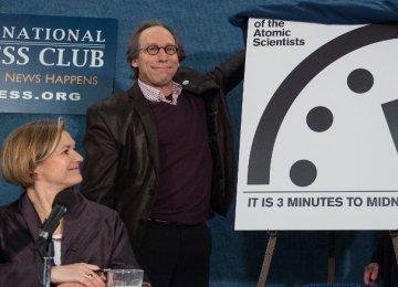 Doomsday Clock Stays at Three Minutes to Midnight