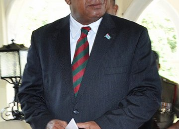 Bainimarama Sworn in as Fiji PM