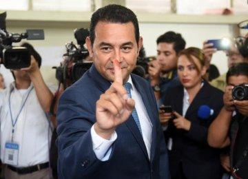 Guatemalan Comedian Leads Presidential Vote