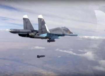 Russia Bombs 40 IS Targets